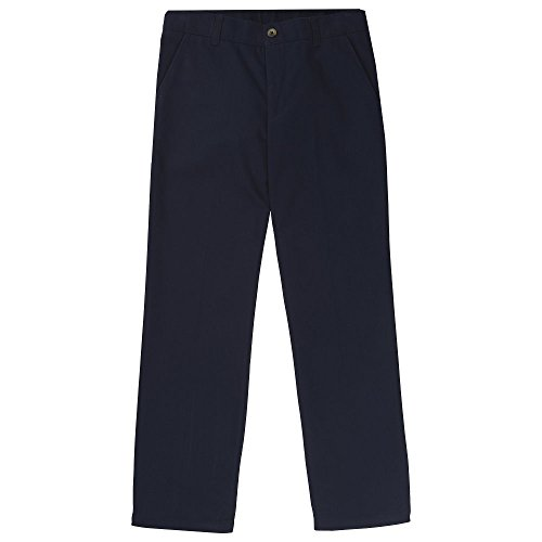 French Toast Boys' Big Straight Leg Twill Pant, Navy, 8