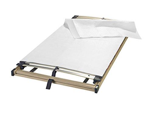 sleepling Matratzenunterlage/Noppen Matratzenschoner Made in Germany, als hochwertige Auflage aus Nadelfilz für den Lattenrost in 90 x 200, weiß