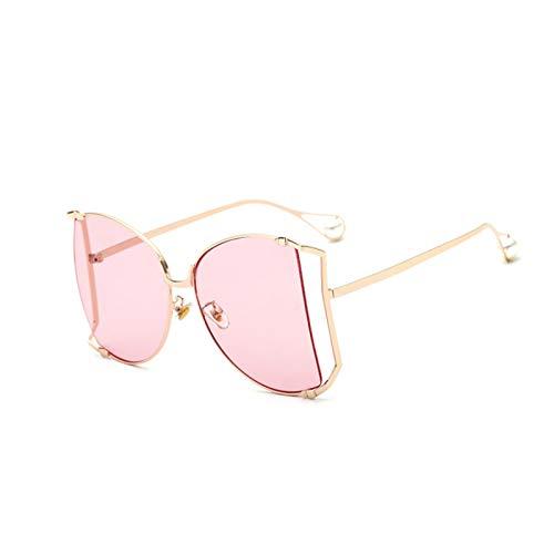 MissLi Gafas De Sol De Media Ronda con Perlas De Marca, Gafas De Sol con Gradiente De Montura Grande A La Moda para Mujer, Gafas Unisex para Mujer (Color : 8)