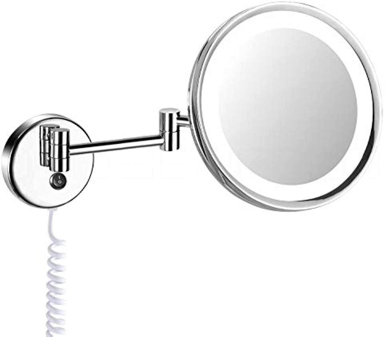 DEUSENFELD KL500 - beleuchteter Tageslicht LED Kosmetikspiegel 5 - Fach Vergrerung,  24cm, MS verchromt, hell