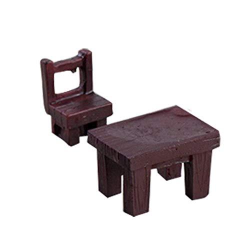 Uteruik Miniatur-Gartenmöbel-Set für Puppenhaus, Blumentopf im Freien, Hausdekoration (lila), Kunstharz, Dunkelrot, 1 Stück (MB-#p)