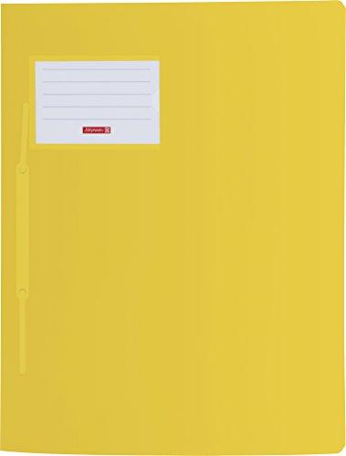 Brunnen 102015010 Schnellhefter FACT!pp (A4, aus transluzentem PP, mit Namensschild, mit Einstecktasche innen) gelb
