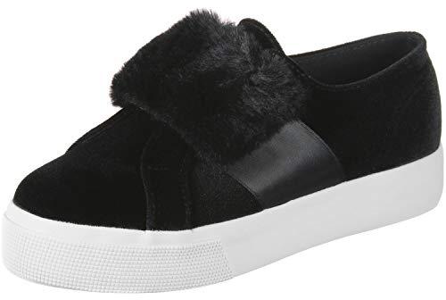 Superga Sneaker 2399 VELVCHENILLESTRAPECORFURW 999 Schwarz Black, Schuhgröße:38