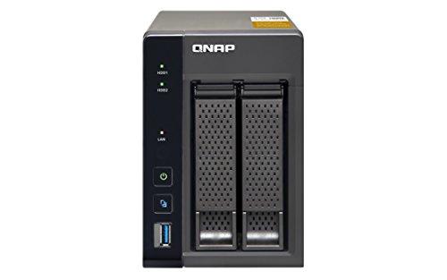 """QNAP TS-253A NAS Tower Collegamento ethernet LAN Nero, Grigio - Server di archiviazione (6000 GB, HDD, SSD, Seriale ATA II, Serial ATA III, 3000 GB, 2.5/3.5"""")"""