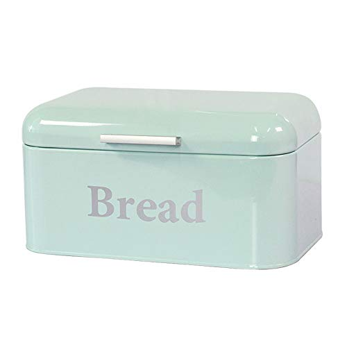 Kitchen Bread Bin, Bread Storage Container, Bread Crock, Best Storage for Loaves, Pastries, Cakes, Rolls and Biscuits,Cyan