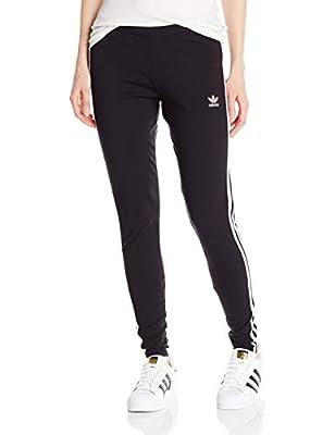 adidas Originals Women's 3-Stripes Leggings, Black/Trefoil Stripe, X-Large (US Size) (US Size)