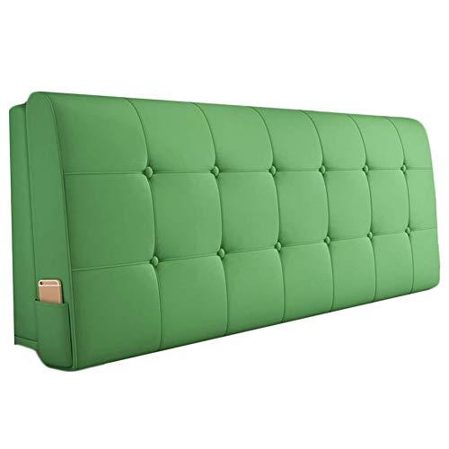 QIANCHENG-Cushion Kopfteil Kissen Bett Rückenkissen Rückenlehne PU Kissen Schwamm Soft Case Zuhause Bett Rückenlehne, 6 Farben Wahlweise (Color : #4, Size : 90x58cm)