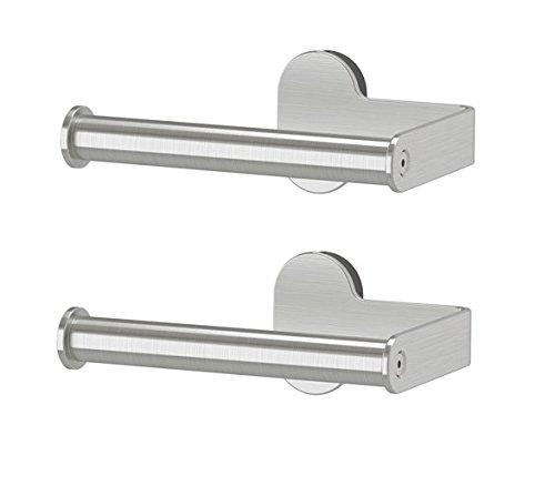 IKEA BROGRUND Toilettenpapierhalter, Edelstahl, Grau, 2 Stück