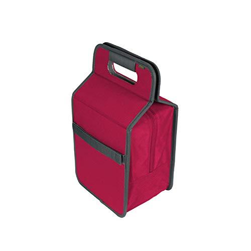 Faltbare Kühltasche/Lunchbox Berry Pink 23x15,5x40cm abwischbar stabil Polyester Shopping Kühlen Picknicker Einkauf himbeer
