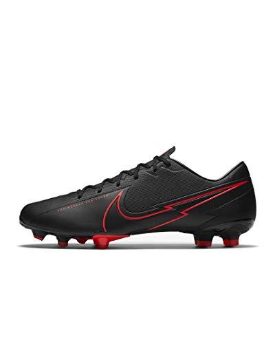 Nike Herren Vapor 13 Academy Fm/Gm Fußballschuhe (schwarz rot, Numeric_43)
