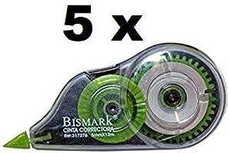 Cinta correctora bismark 12 metros * 5 m/m (5 unidades