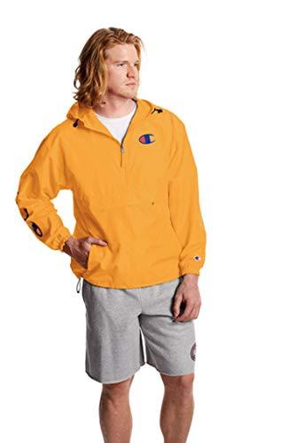 Champion Men's Packable 1/4 Zip Jacket, C Gold, Large