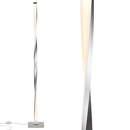 ZFWB Lámpara de pie LED moderna en la columna de la sala Lámpara de pie LED en la oficina del dormitorio Lámpara de pie brillante 20 * 120cm Sliver