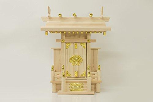 Akua(アクア) ひのき 神棚 ■ 中神明 ■ 一社 神棚 サイズ約 (cm) 高さ 40.5 幅 34.5 奥行 22.0