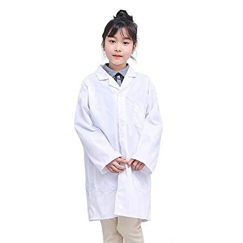 Huaheng 1 Stks Kinderen Verpleegster Doctor Wit Lab Jas Uniform Top Prestatie Kostuum Medische M Thick