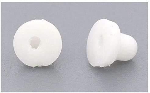Hinleise - 500 cuscinetti in gomma per orecchini a clip, 6 x 5 mm