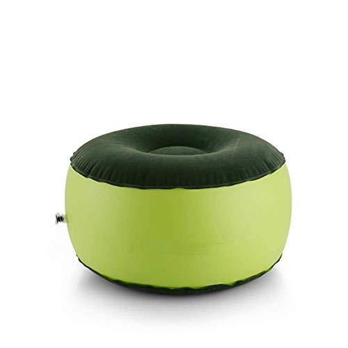 DBSCD Camping Stuhl Aufblasbare Hocker Fußstütze Kissen Tragbare Pouf Air Runden Reisekissen Perfekt für Home Office Yoga Beinstütze Komfortabel Im Freien