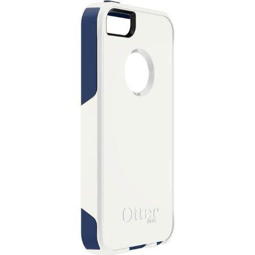 OtterBox Commuter Series Case for Apple iPhone 5 - Retail Packaging - White Blue