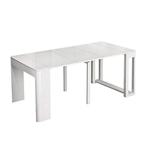 Sunferkyh Comedor 30 ° Diseno Redondeado Nordic Escalable Multi-funcion De Plegado Comedor Mesa Rectangular Adecuado para Lounge Restaurant (Color : Marble Tiles, Size : 184X80X75.5cm)