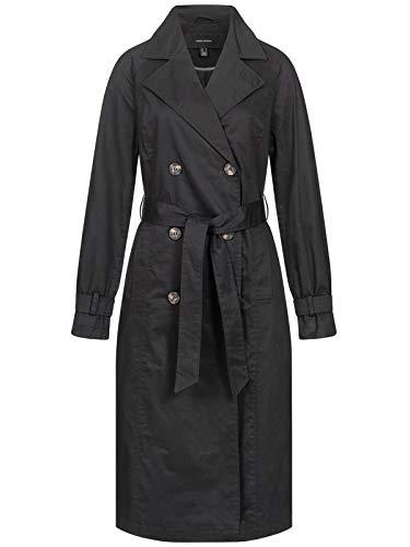 VERO MODA Damen Übergangsjacke Trenchcoat VMMunich Mantel mit Gürtel 10239377 black M