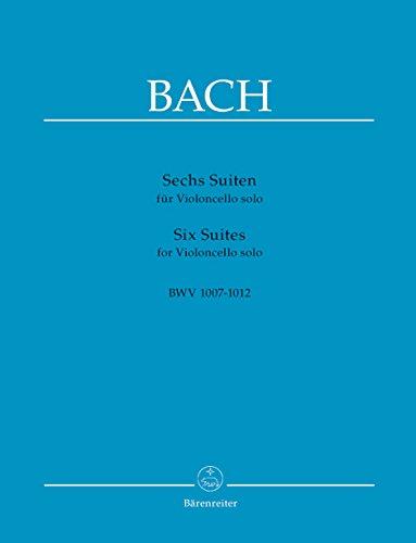 Sechs Suiten BWV 1007-1012 für Violoncello solo - Ausgabe in der Bärenreiter Edition - Hrsg. August Wenzinger (Noten)