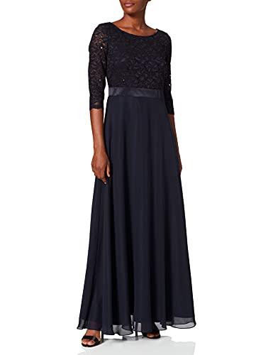Vera Mont Damen 0113/4825 Partykleid, Blau (Night Sky 8541), (Herstellergröße: 36)
