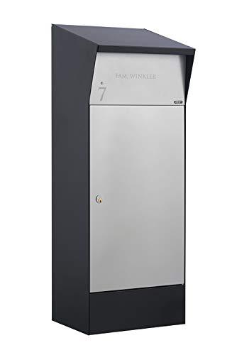 Allux Bjørn Premium Paketkasten, Schwarz und Grau