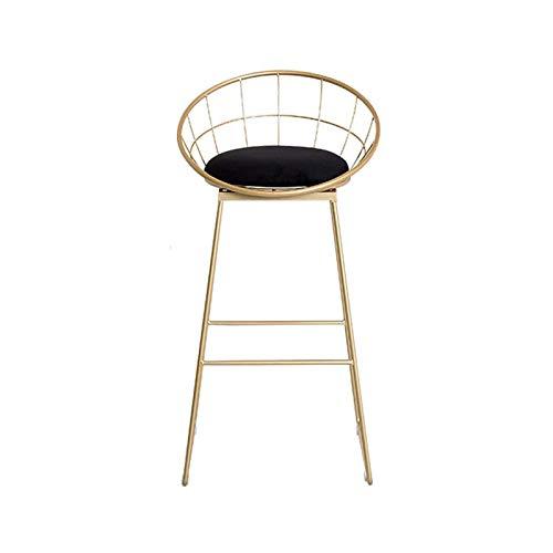 HFVDA Sedie da banco da Cucina con sgabelli da Bar in Velluto con sedie da Cucina, sedie a Barre Sgabelli Alti con Schienale e poggiapiedi Golden Metal Gambe e poggiapiedi per Cucina Isola