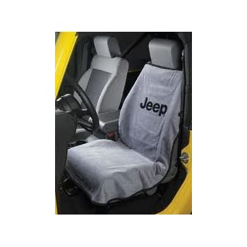 Seat Armour SA100JEPSFG Grey Jeep Smiley Face Seat Protector Towel