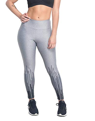 Calça Legging Matrix Prata (M)
