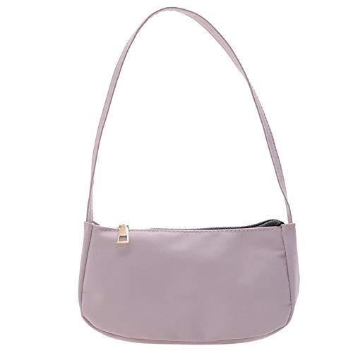 ZGNB Small Nylon Shoulder Bags for Women Mini Handbags Ladies Retro Handbag Shoulder Bag Underarm Bag with Zipper Closure