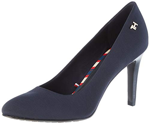 Tommy Hilfiger Damen Essential Textile Pump Pumps, Blau (Midnight Cki), 39 EU