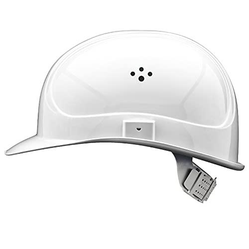 EU Schutz– Casco – En 397 Ajustable Trabajo Casco – Casco de construcción con 6 Puntos de Correa, Blanco