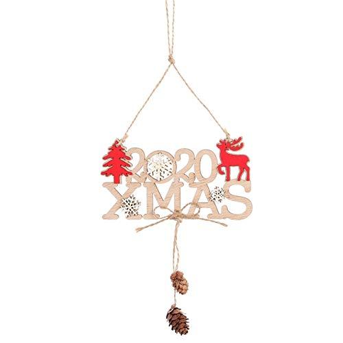 WERNG Decoraciones navideñas DIY Marco de Fotos de Madera Colgante Decoraciones navideñas Ree Adornos Decoraciones navideñas para el hogar Navidad G