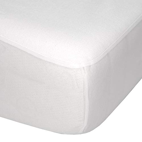 Luxury Fitted Breathable Waterproof Brushed Cotton Mattress Protector Superking, 183 x 200 x 32 cms