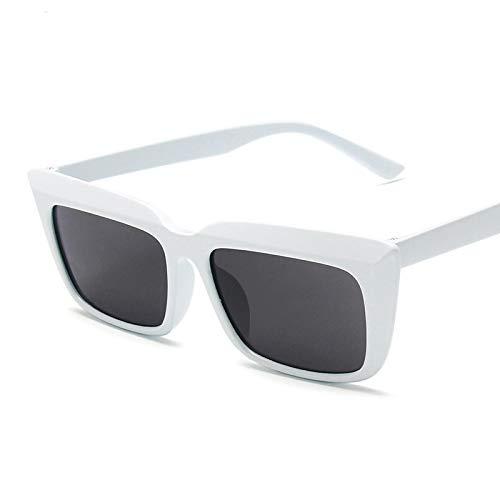 NJJX Gafas De Sol Cuadradas Mujer Retro Sunglass Rectángulo Moda Gafas De Sol Mujer C7White