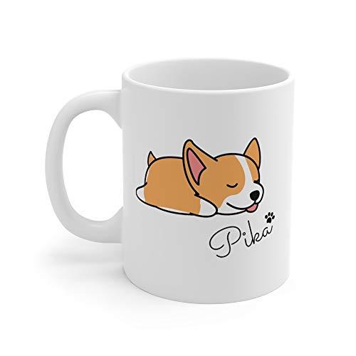 Bolsa de mano personalizada Corgi Mug oz, Lazy Corgi, regalo personalizable para los amantes de las mascotas, regalos Corgis, bonita taza de café Corgi bolsa de la compra para mujer