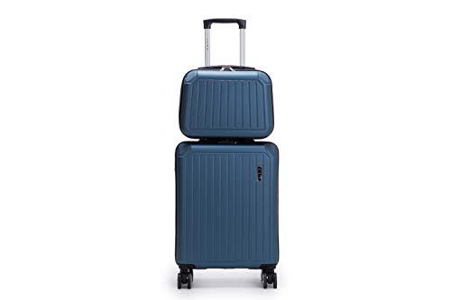 LYS - Set de 2 Valise Cabine 55cm Rigide 8 Roues avec...