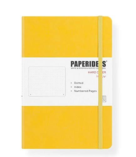 WSKL 5,7x8,2 Pulgadas Vendaje Retro Color Caramelo Diario Cuaderno Diario Tapa Dura A5 Revistas Bullet Cuaderno de Puntos 188 páginas