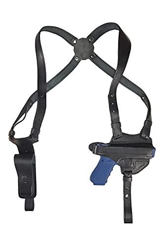VlaMiTex S1 Shoulder Holster Leather for Glock 17 19 22 23 25 31 32 38 44 45 48 Black