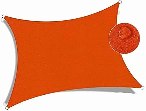 Toldo para sombreado, color naranja, toldo hesperide 4 x 4 m, protección UV impermeable, toldo impermeable impermeable para sombreado a medida