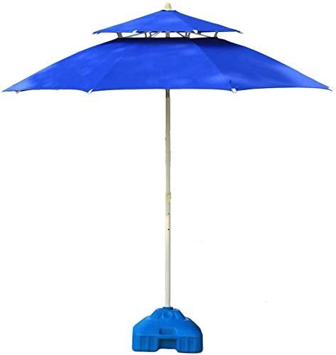 ZHFF Ombrelloni 11  Ombrellone da Spiaggia Piscina Giardino Patio Doppio Piano, Resistente all Acqua ai Raggi UV Ombrellone da Tavolo per Esterno Ombrellone da Esterno