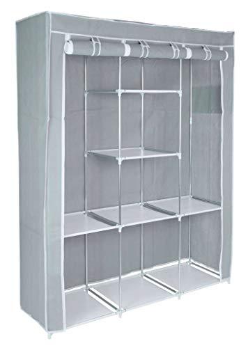 VANGALOO Armario de tela con barra, armario de tela, sistema de estantería,...