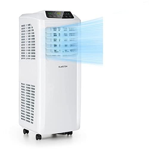 Klarstein Pure Blizzard Smart mobile Klimaanlage, 3-in-1: Klimaanlage/Luftentfeuchter/Ventilator, WiFi: App-Steuerung, EEC A, inkl. Fensterabdichtung, 24-h-Timer, 7000 BTU / 2,1 kW, 21-34 m², weiß
