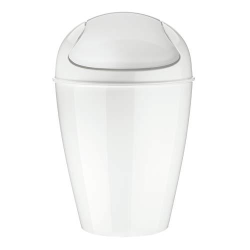 koziol Schwingdeckeleimer 12 L Del M, Kunststoff, solid weiß, 29 x 29 x 44,5 cm
