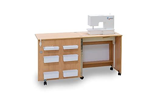 Comfort 1 | Mesa para máquina de coser | (Beech Ellmau, M (Air-Lifter to 10kg))