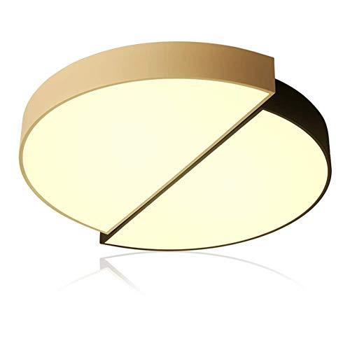 Dimbare led-plafondlamp van Morden met instelbare, heldere, eenvoudige cirkel, wit en ring, zwart