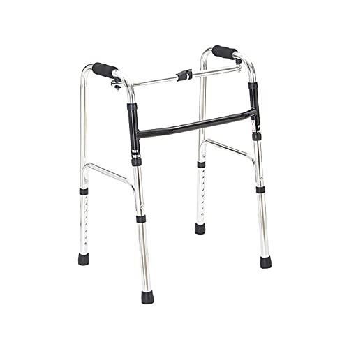CIKO Andador Plegable, Andador móvil Plegable Ligero, Disponible para Personas discapacitadas sin Ruedas, Ajustable en Altura para Personas comunes y Altas