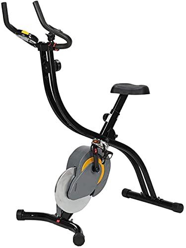 YXYY Bicicleta estática Plegable Bicicleta de Fitness con Sensor de Pulso de Mano Pantalla LCD Control magnético Bicicleta de Cardio Bicicleta estacionaria Vertical Bicicleta reclinada (actualiza