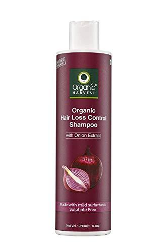 Champú de Cebolla Roja Organic Harvest para la Caída del Cabello y el Control del Crecimiento | Champú Anticaída para Hombre y Mujer 250ml